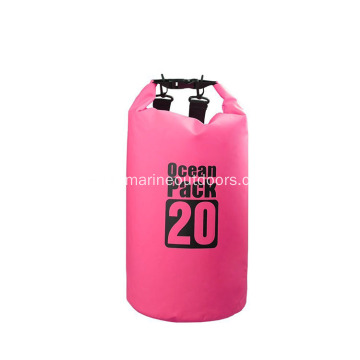 Custom Logo Outdoor PVC Waterproof 20L Backpack Dry Bag With Shoulder Straps